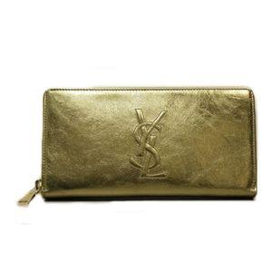 YSL Saint Laurent Gold De Jour Wallet